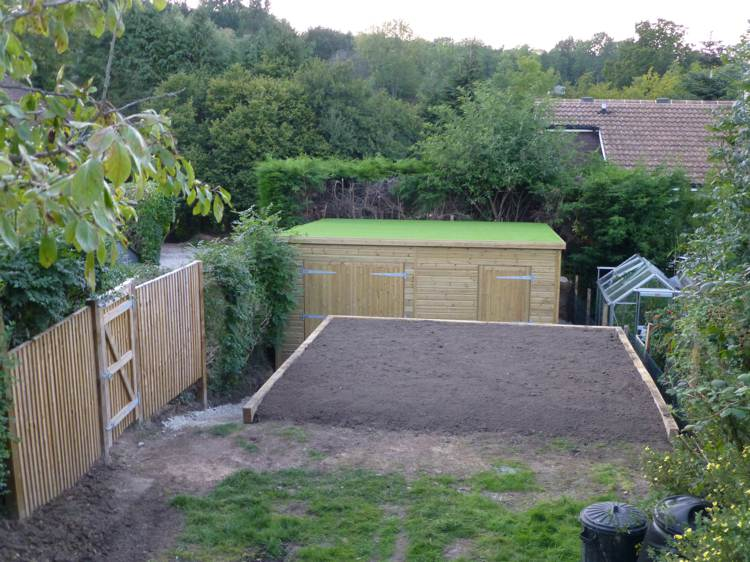 how to build a grass roof shed