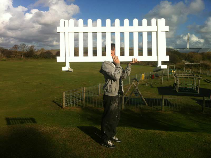 Easy to move around and erect temporary pvc fencing is the ideal portable fence