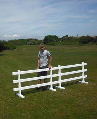 3ft tall 3-rail temporary fence